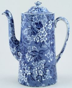 Bourne and Leigh May Blossom pattern, c. 1930s, England. pretty blue & white
