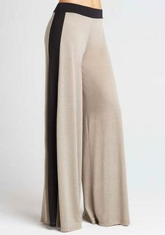 Wide-Leg Knit Pant- Black/White, Taupe - Loungewear - Clothing - Alloy Apparel for 30 buck…. I love theses