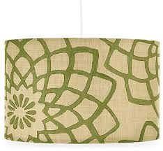 Patterned drum shade