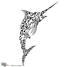 Tatuaggio di Takeketonga, Marlin tattoo - custom tattoo designs on TattooTribes.com