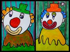 Clown Cirque, Le Clown, Carnival Themes, Carnival Masks, Circus Art, Circus Theme, Art For Kids, Crafts For Kids, Arts And Crafts
