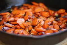 Cast Iron Carrots with Garlic and Honey via @https://www.pinterest.com/artfuldishes/