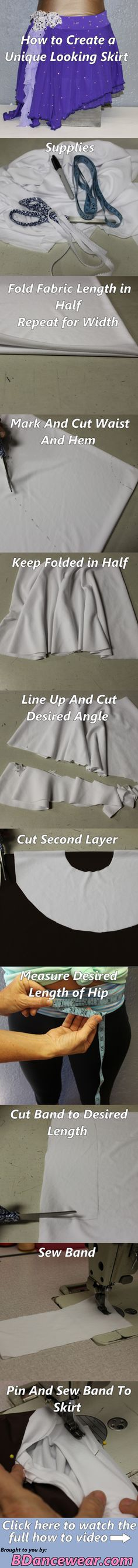 DIY Dance Costume How to Create a Unique Looking Skirt