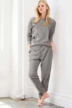 Buy Grey Embroidered Bird Sweat Top from the Next UK online shop