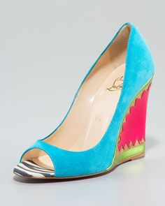 Christian Louboutin...I love you :) These shoes work with every color in our color forecast!!!