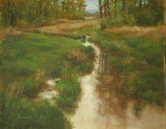 "Beth Nowood oil - ""Steigerwald Reflections II"""
