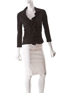 Prada Ruched Blouse-I really like this outfit.