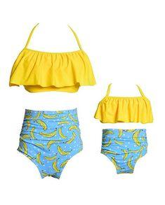b20a3bfedb Mommy and Me Swimsuits Family Matching Swimwear Bikini Set