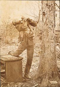 Souvenir Postcard of Lee Hall, lynched in a trash dump in Wrightsville, Georgia. His ears were cut off, and his body riddled with bullets.