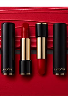 Toast the season with the perfect Red Lip. Shown (from L to R): Adoration L'Absolu Rouge Cream Lipstick L'Absolu Rouge Drama Matte Lipstick 505 Lip Gloss Colors, Pink Lip Gloss, Lip Colors, Fall Lipstick Colors, Green Lipstick, Hot Pink Lipsticks, Best Lipsticks, Mac Matte Lipstick Shades, Perfect Red Lips