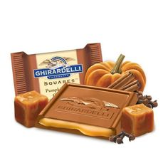 Seasonal offering from Ghirardelli featuring the taste of winter and Christmas. Warming cloves, nutmeg and cinnamon are folded into the runny centre of the milk chocolate square. The winter spice caramel centre is to die for! Perfect for munching on while your curled up on the sofa on a cold winters night!