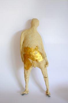 by dutch artist Wien de Graaf...  'with a golden heart...'