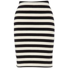 Stripe Jersey Tube Skirt ($78) ❤ liked on Polyvore