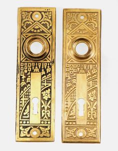 Aesthetic 'Ceylon' detailed back plate $25 each http://ogtstore.com/architectural/hardware/doorknobs-backplates/aesthetic-ceylon-detailed-back-plate/