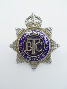 Obsolete British Transport Commission Police Senior Officer's Cap Badge - K/C | eBay