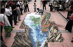 Done in chalks - 3D murals