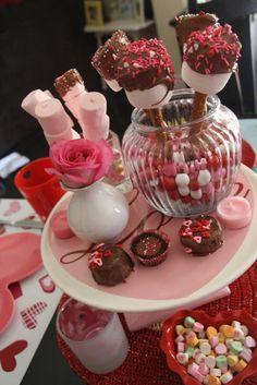 Valentines day sweet centerpiece