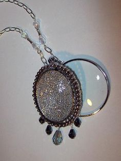 Magnifying Glass Crystal Dangle Details on by JENSTARDESIGNS,