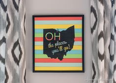 Repurpose paint sticks with this beautiful state sign from @infarrantly #TheCreativeSpark