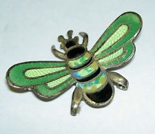 Vintage 1950's Taxco JF Jose Frederico (Margot) Sterling Enamel Bumble Bee Pin