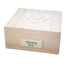 Keep your precious memories safe in this fab shabby chic pink wooden memory box.
