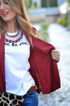 BURGUNDY – Mi Aventura Con La Moda Boyfriend Jeans, Casual Wear, Burgundy, Tank Tops, Outfits, How To Wear, Style, Fashion, Casual