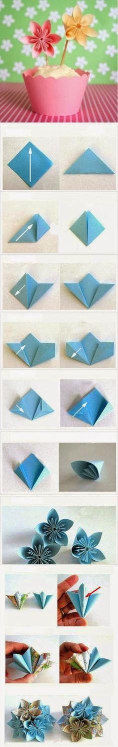 Tutoriales y DIYs: Origami: Flor