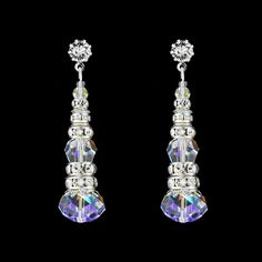 Crystal & Rondelle Beaded Drops