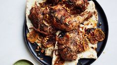 Za'atar Roast Chicken with Green Tahini Sauce Recipe | Bon Appetit