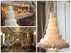 Beautiful is this Halo Hanging Wedding Cake!