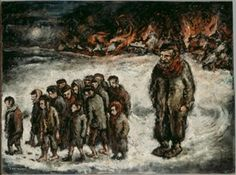 The village on fire Jewish Art, Art Education, Photography, Painting, Image, Fire, Camps, Teacher, Strong