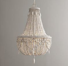 Anselme Large Chandelier Weathered White