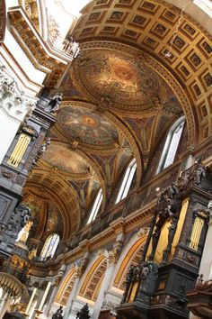 St Paul's Cathedral London One of the most beautiful buildings I've ever been in. British Architecture, London Architecture, Baroque Architecture, Church Architecture, Historical Architecture, Amazing Architecture, Architecture Details, Architecture Journal, Anglican Cathedral