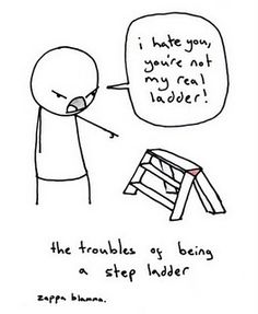 troubles of being a step ladder