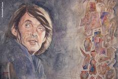 Fabrizio visto da Archimede Scarpa, «Buon Complenno Faber 2014» , acquerello su carta Painting, Musica, Painting Art, Paintings, Painted Canvas, Drawings