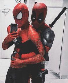 A daily meh meme I`ve seen Deadpool X Spiderman, Deadpool Funny, Marvel Funny, Marvel Dc Comics, Marvel Heroes, Spideypool, Dead Pool, Lgbt, Stony Avengers