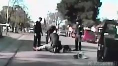 "Sacramento Police Dashcam Video Of Violent Jaywalking Arrest  (Disclaimer: Video posted strictly for educational and information purposes only)  Sacramento police have just released the dashcam video of the violent arrest of Nandi Cain Jr. on Monday in Del Paso Heights. This video is the first that's been released that shows the arrest from the police department's perspective. You can hear the officer demand Cain to get down to the ground. And Cain's response ""I don't have nothing."" The take…"