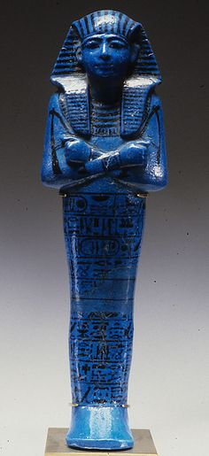 Shabti of Seti I 19th Dynasty, New Kingdom This shabti was one of hundreds made for the pharaoh Seti I, the father of Ramesses II. Shabtis were placed in a tomb so the owner's spirit would not have to...