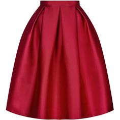 TOPSHOP Satin Prom Midi Skirt ($115) ❤ liked on Polyvore featuring skirts, red, calf length skirts, red skirt, satin skirt, red knee length skirt and topshop skirts