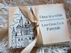 Wedding Fairytale Love Thank You Cards Vintage by ifiwerecards, $37.50 Inside text: Thanks for sharing in ours.