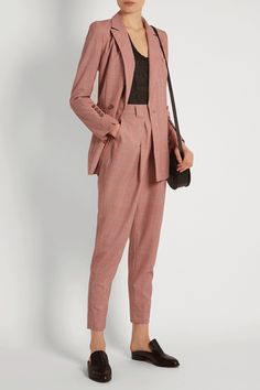 "How To Find (& Buy) The Perfect Pantsuit #refinery29 http://www.refinery29.com/womens-pantsuit#slide-2 Was it love at first fit, or did pantsuits have to grow on you?""I've always loved pantsuits. I'm a child of the '80s, so I was very influenced by all of the androgynous looks of that moment — Annie Lennox in The Eurythmics and their 'Sweet Dreams' video, Grace Jones, Duran Duran, and, of course, David Bowie.""Rachel Comey Rupture Double-breasted Wool-pl..."