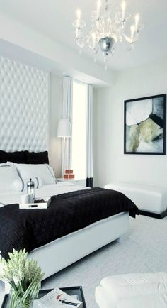 Don't be shy about choosing modern and minimalist furnishings that add glamour and luxury to your bedroom décor.