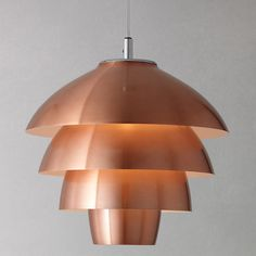 Buy John Lewis Oslo Layered Ceiling Pendant, Copper | John Lewis
