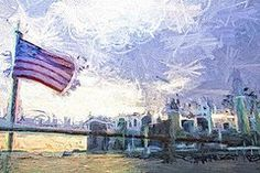Featured Art - Flag On The City  by Alice Gipson