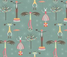 Fabric – Shop for Fabric By Independent Designers – Spoonflower - the birdman takes the show - circus