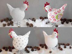 Fabriquer une poule Découvrez comment fabriquer une poule avec des mouchoirs, du durcisseur. Je la décore avec un effet béton peint.