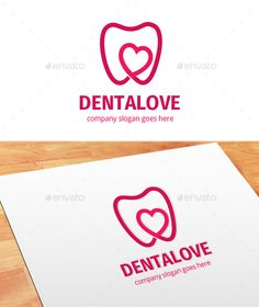 Dentalove Logo by Goodigital Features: AI Dental Clinic Logo, Dentist Logo, Dental Quotes, Teeth Logo, Cabinet Medical, Dental Design, Name Card Design, Love Logo, Logo Design Template
