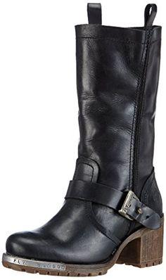 FLY London Women's LEBI Unlined biker boots half length: Amazon.co.uk: Shoes & Bags