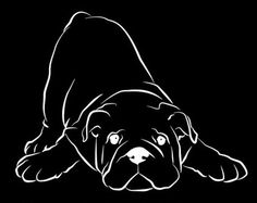 Bulldog Sitting Vinyl Car Decal by WryToastDesigns on Etsy
