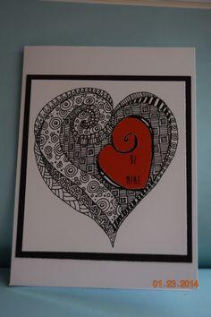 Zentangle Valentine's Day Card